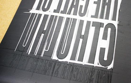 linocut title Call of Cthulhu