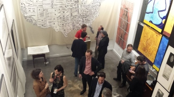 Artist Reception for the exhibition of artwork by Didier Mutel at Atelier Contakos